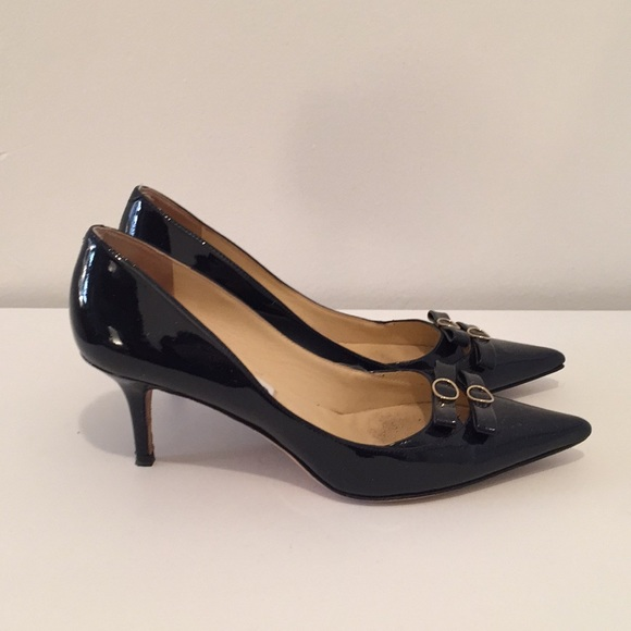 45cb2bcda7c Jimmy Choo Shoes - Jimmy Choo navy patent leather pumps with bows